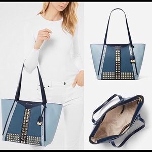 AUTHENTIC MICHAEL KORS WHITNEY STUDDED LARGE TOTE